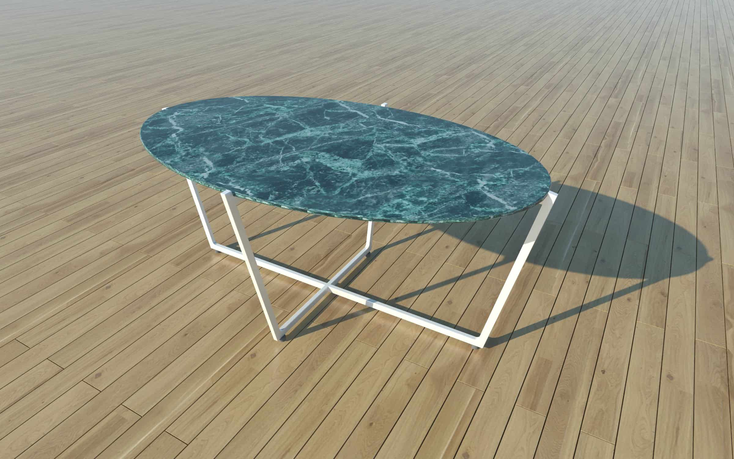 Emma Tablel Dining Table 170x100x74 White Old Green Marble Nordst